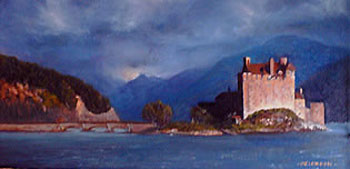 Oil painting of Eilean Donan Castle, Scotland